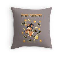 Happy Halloween Corgi Throw Pillow