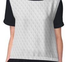 Neutral Grey Geometrical Background Chiffon Top