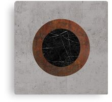 Concrete, Rusted Iron, and Black Marble Abstract Canvas Print