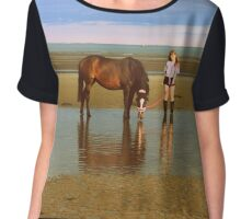 Girl and Horse - Photo Chiffon Top