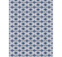 Pattern 012 Royal Blue Oval Shapes Stitching Photographic Print