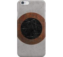 Concrete, Rusted Iron, and Black Marble Abstract iPhone Case/Skin