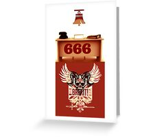 RING 666 Greeting Card
