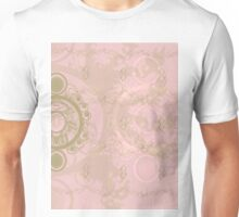 Pattern 013 Royal Time, Chrono Pink, Gold Unisex T-Shirt