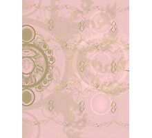 Pattern 013 Royal Time, Chrono Pink, Gold Photographic Print