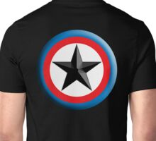 Bulls Eye, Star, Target, Roundel, Archery, Star, Badge, Buttton, on Black, Unisex T-Shirt