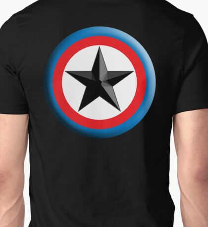 Bulls Eye, Star, Target, Roundel, Archery, Star, Badge, Buttton, on Black, Unisex T-Shirt