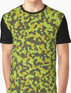 yellow and brown abstract camo 2 Graphic T-Shirt