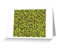yellow and brown abstract camo 2 Greeting Card