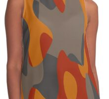 burnt orange camo abstract Contrast Tank