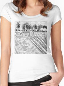 Monsoon at Field View - Kerala 6 Women's Fitted Scoop T-Shirt