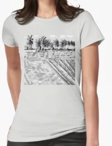 Monsoon at Field View - Kerala 6 Womens Fitted T-Shirt