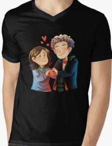Doctor Who - Whouffaldi Heart Mens V-Neck T-Shirt