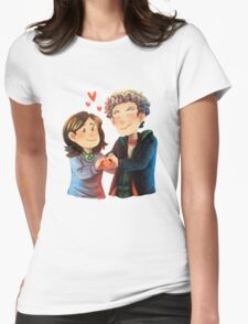 Doctor Who - Whouffaldi Heart Womens Fitted T-Shirt