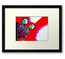 Skeletalove Framed Print
