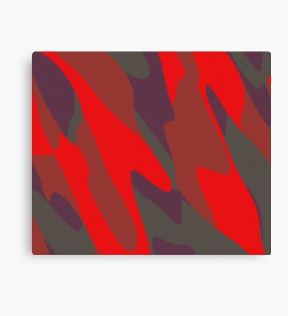 red purple and gray abstract Canvas Print