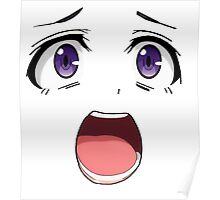 Anime face purple eyes Poster