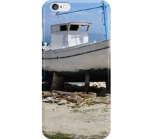 BOAT ON BLOCKS.. iPhone Case/Skin