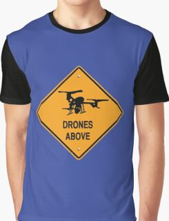 drones above Graphic T-Shirt