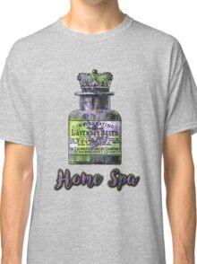 Lavender Bath Salts Old Book Page Vintage Illustration Classic T-Shirt
