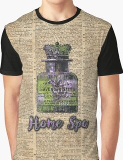 Lavender Bath Salts Old Book Page Vintage Illustration Graphic T-Shirt