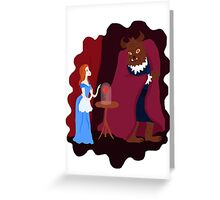 Beauty and beast Greeting Card