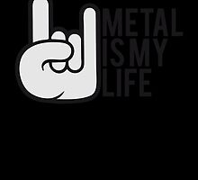 Metal is my Life Satan Hand by Style-O-Mat