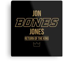 Jon 'Bones' Jones | Gold Metal Print