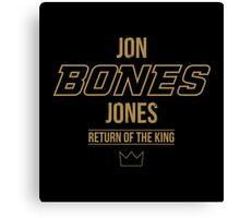 Jon 'Bones' Jones | Gold Canvas Print