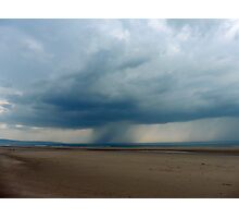 Irish Sea, Showers, Imminent Photographic Print