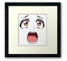 Anime face brown eyes Framed Print