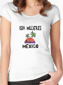 Isla Mujeres Mexico Women's Fitted Scoop T-Shirt