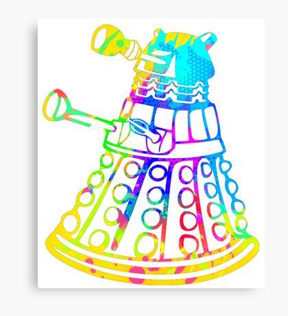 Colorful Splatter Paint Dalek Canvas Print