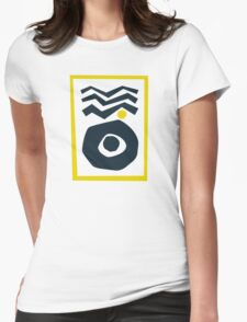 Abstract Sunrise Womens Fitted T-Shirt
