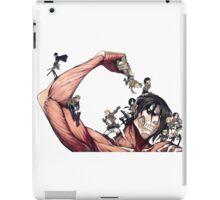 manga l'attaque des titans iPad Case/Skin