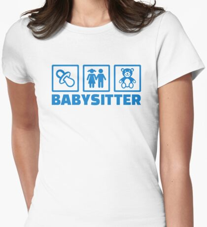 Babysitter Womens Fitted T-Shirt