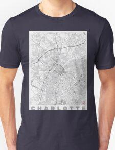 Charlotte Map Line Unisex T-Shirt