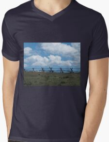 Fence to Heaven Mens V-Neck T-Shirt