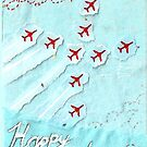 Red Arrows themed birthday card - sister by Blackbird76