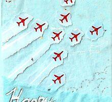 Red Arrows themed birthday card - sister by Blackbird76