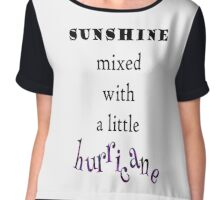 Sunshine mixed with a little hurricane digital illustration Chiffon Top