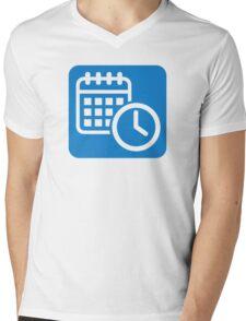 Calendar Mens V-Neck T-Shirt