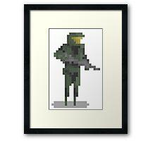 8 Bit Heroes - Master Chief Framed Print