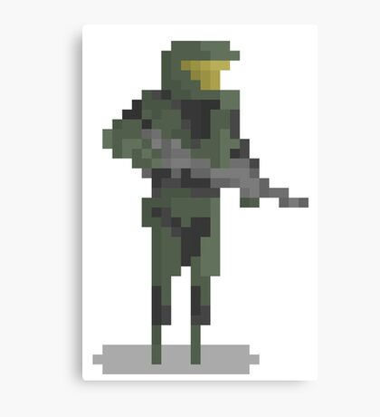 8 Bit Heroes - Master Chief Canvas Print