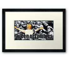 Queen of Zombies Framed Print