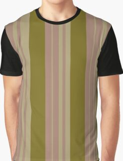 Pattern 016 Gold Pink Broad Stripes Graphic T-Shirt