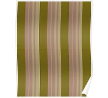 Pattern 016 Gold Pink Broad Stripes Poster