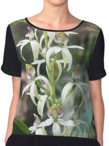 Small Orchids Chiffon Top