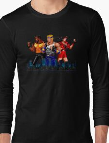 STREETS OF RAGE - AXEL-BLAZE-ADAM - CITY (2) Long Sleeve T-Shirt