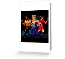 STREETS OF RAGE - AXEL-BLAZE-ADAM - CITY (2) Greeting Card